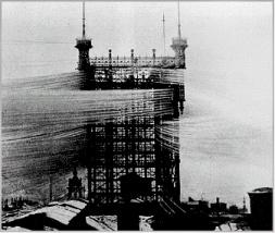 Arrivée des lignes d'abonnés - 1880 ici à Stockholm
